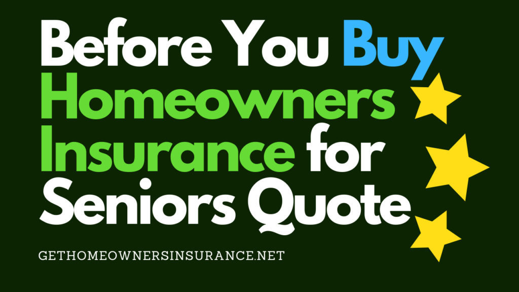 Homeowners Insurance for Seniors